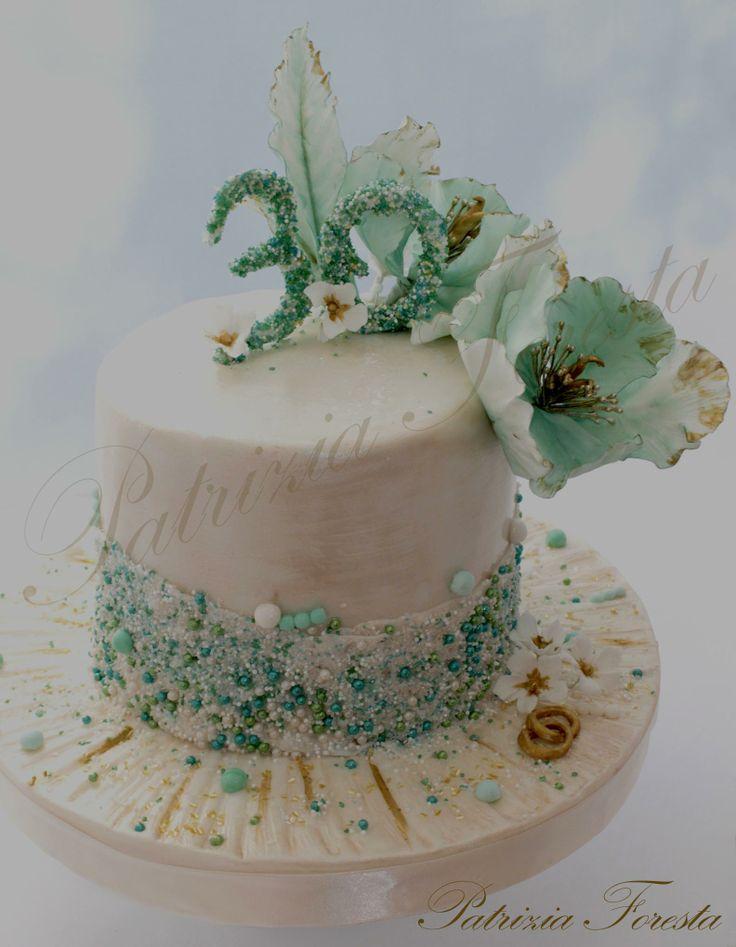 30° Anniversario di matrimonio: nozze di perla - colore acquamarina
