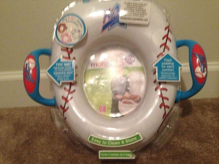 Munchkin All Star Potty Seat Baseball New Toddler Training Toilet Seat #Munchkin