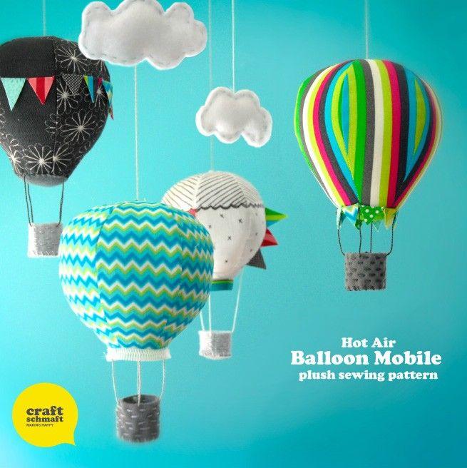 Air Balloon Mobile Pattern (PDF) - by CraftSchmaft on Craftumi