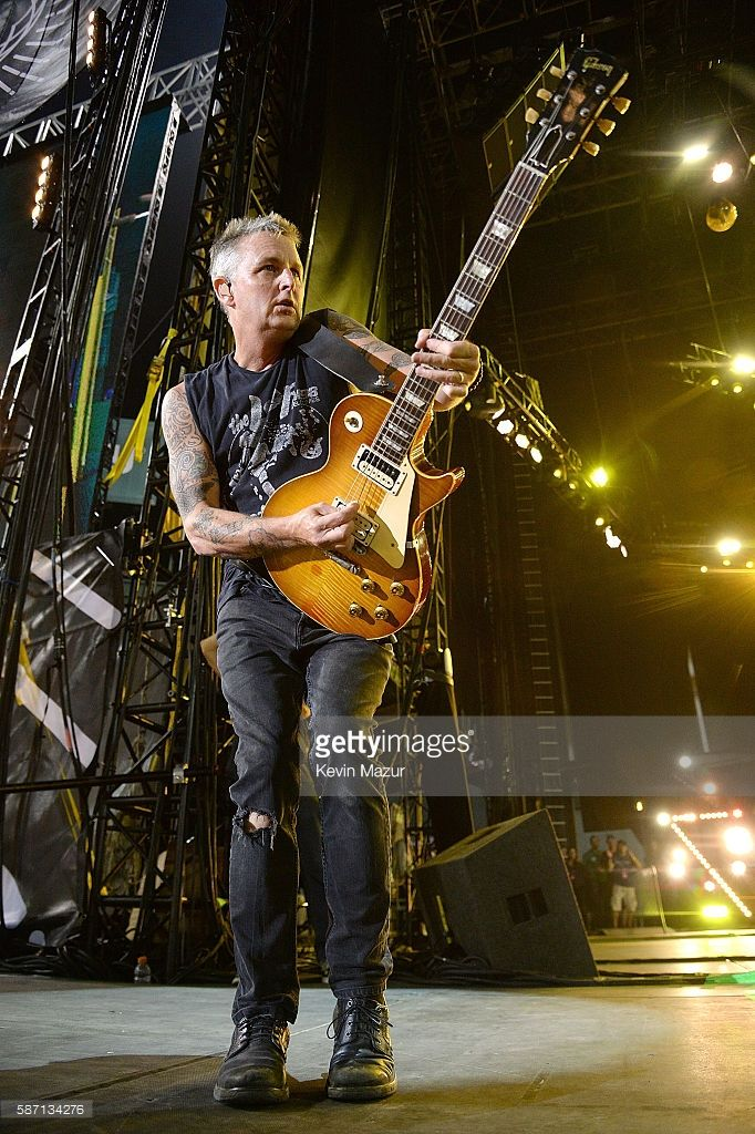Mike McCready of Pearl Jam performs on stage at Fenway Park on August 5, 2016 in Boston, Massachusetts.