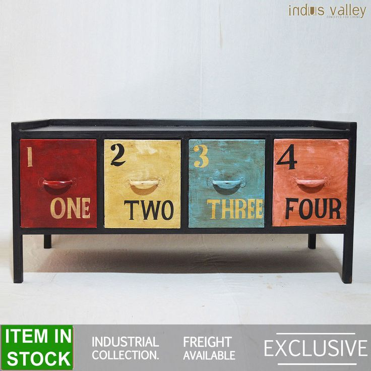 Numbers Industrial Metal colourful black Entertainment unit TV Plasma stand A