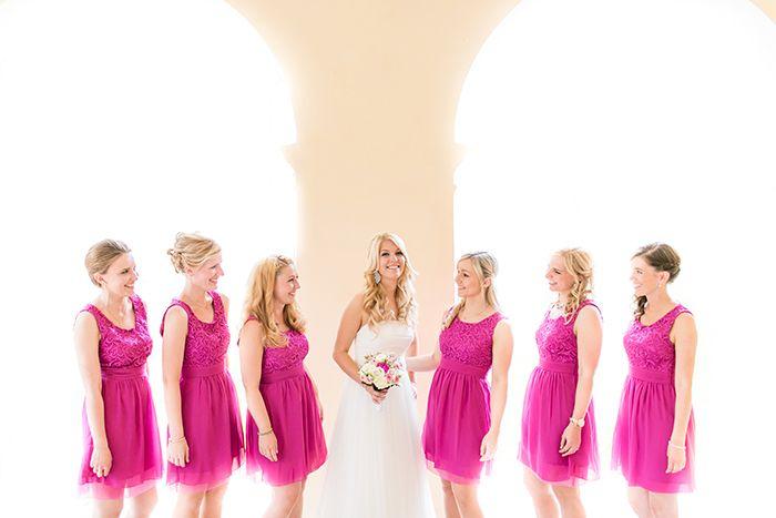 Kleid Brautjungfern Pink (2)