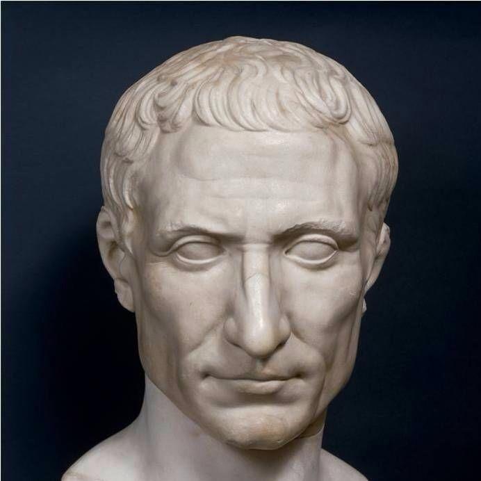 Roman marble bust of Julius Caesar, dated to c.50 BC