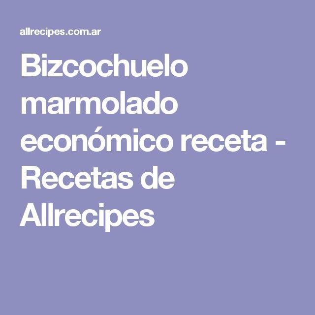 Bizcochuelo marmolado económico receta - Recetas de Allrecipes