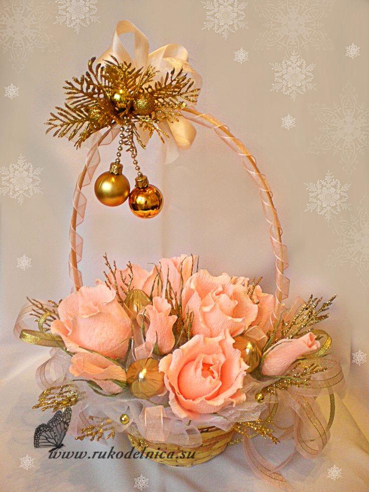 Мастер-класс: конфетный букет «Новогодний» | Рукоделие | Мастер-класс | Поделки