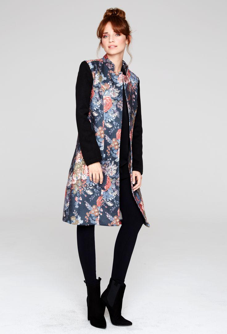 #coat #roses