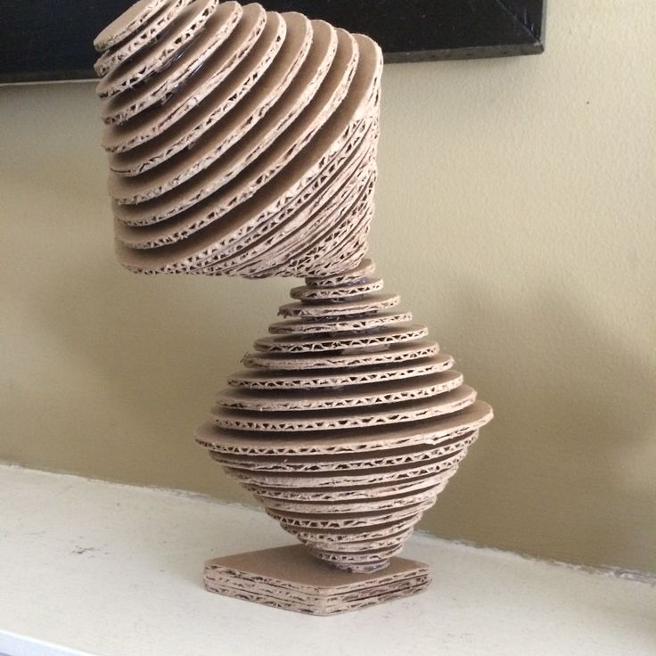 Abstract cardboard sculpture