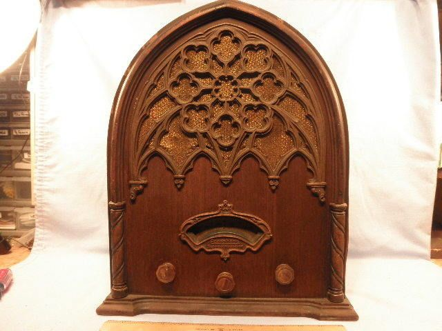 Gothic Echophone Model 60 Cathedral Art Deco Tube Radio from 1931 Works   eBay
