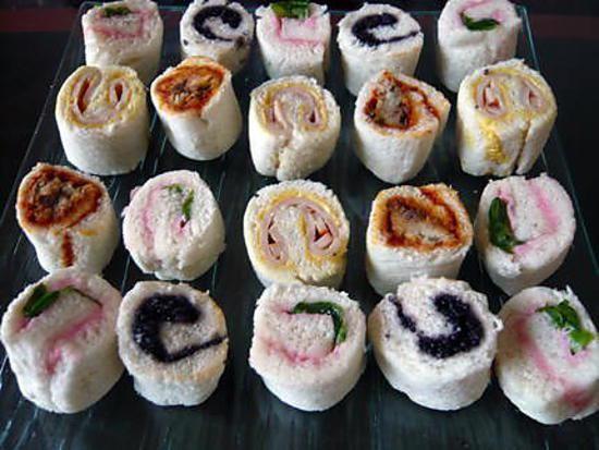 recette Roulés apertif façon sushi