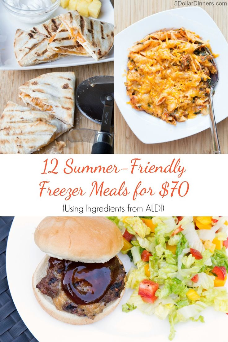 12 Summer Freezer Friendly Meals from Aldi.  Get cooking for dinner! Buy The Meal Plan recipes today to help you save time and money!