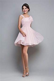 A-Line/Princess Asymmetrical Short/Mini Chiffon Prom Dress