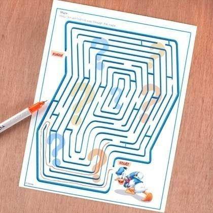 Challenge your kids to finish this maze with no end. | 37 Next-Level April Fools' Day Pranks Your Kids Will Never Forget