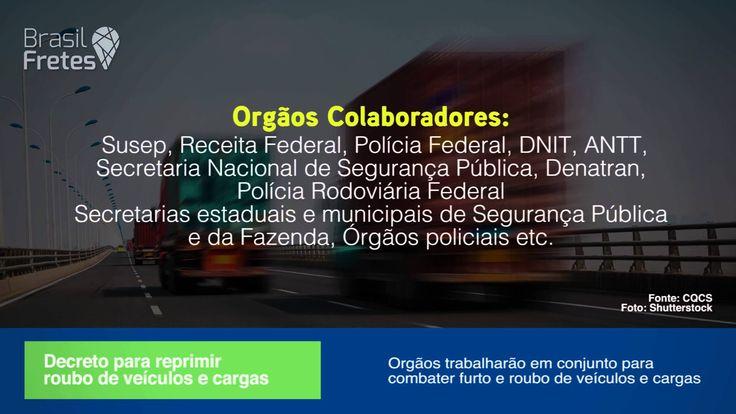 Decreto combaterá roubo e furto de veículos e cargas
