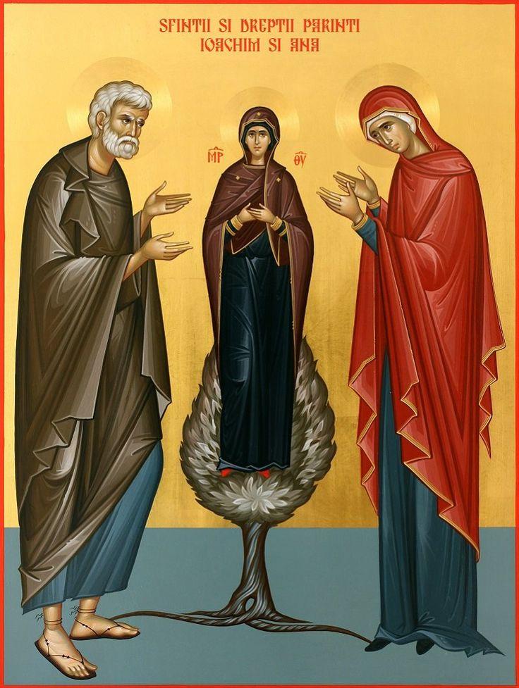 - Sfintii si dreptii parinti Ioachim si Ana - 30X40 cm