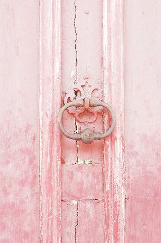 Pink Door, Provence, France by Mich Lancaster