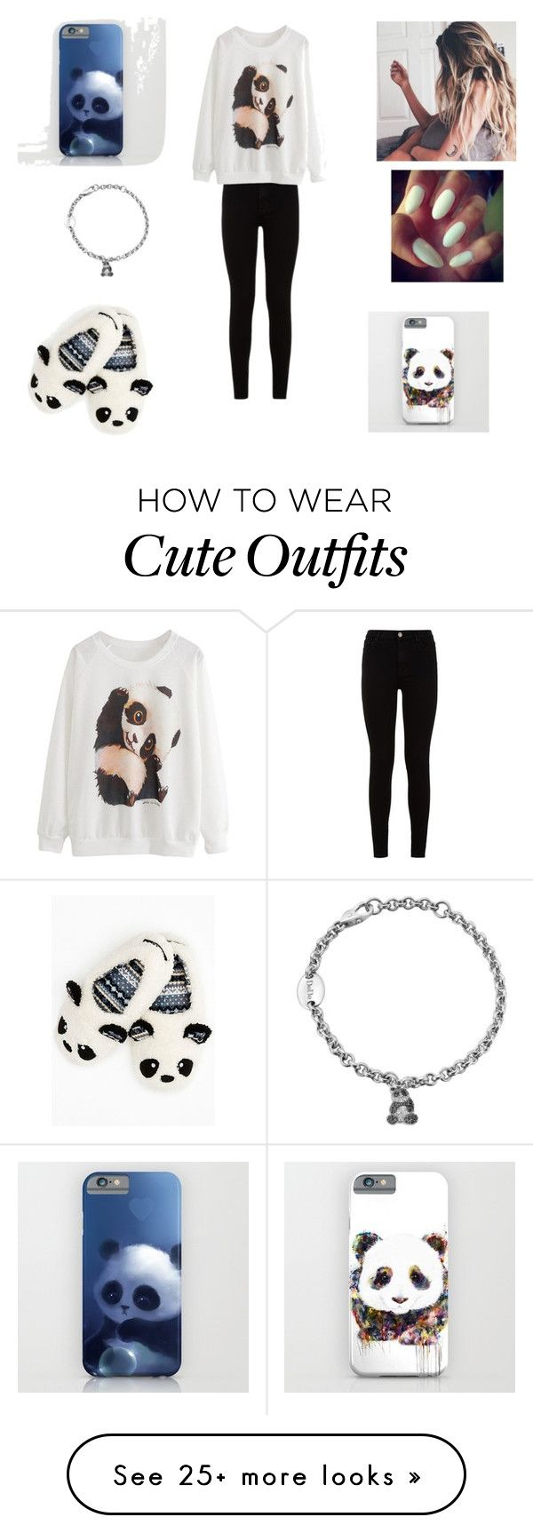 """""""Panda outfit :)"""" by coolcat000 on Polyvore featuring 7 For All Mankind, women's clothing, women, female, woman, misses and juniors"""