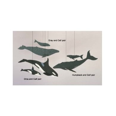 How we Montessori Shop - Whale (Mother and Baby) Mobile