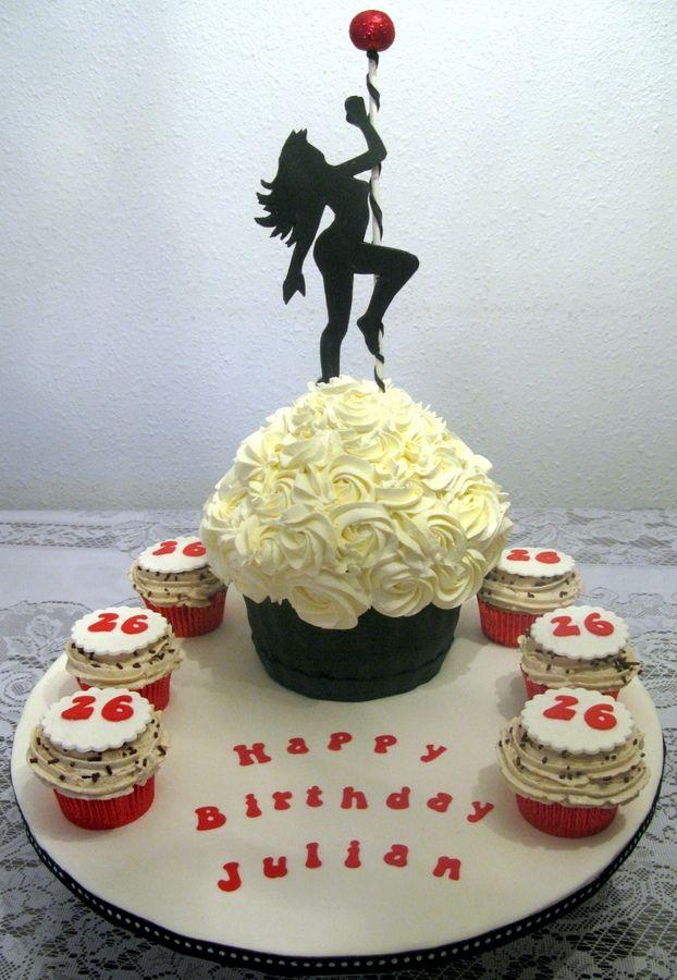 Creamy pole dance cupcake