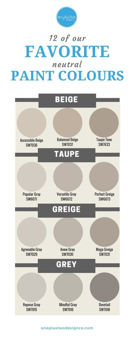 Neutrals are HOT, not bland! From Beige to Gray, learn which neutral paint colou... interior paint