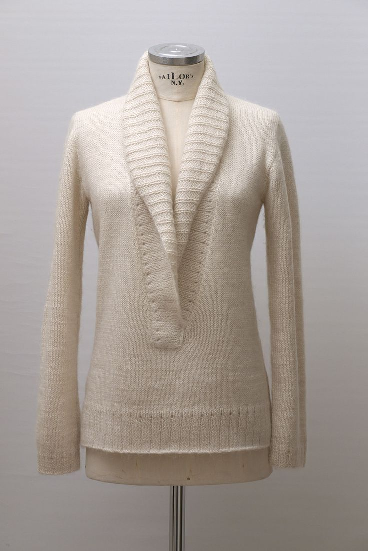 Handknitted sweater - alpaca-mohair