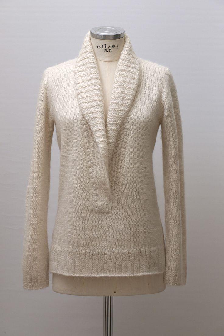 Handknitted sweater - alpaca-mohair