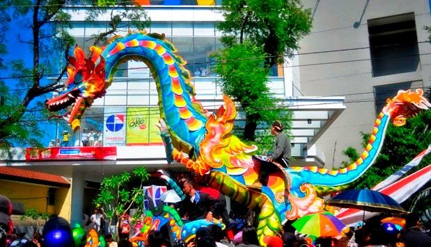 """In this celebration of diverse goods sold (a kind of night market) and at present often included a variety of sponsorship from a number of major industries. However, there is one toy that is always associated with this festival, called """"warak ngendog""""."""