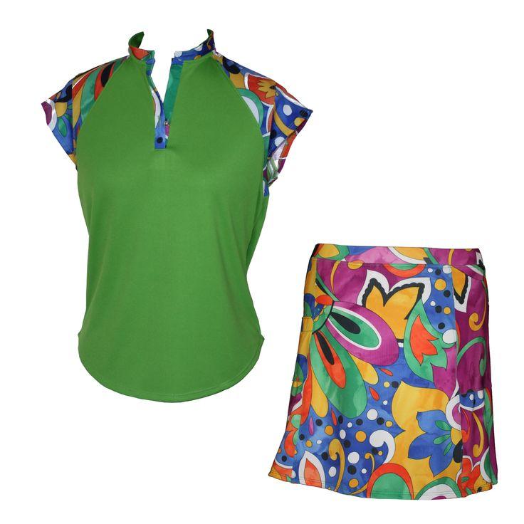 Lady Golfwear - Exotic Matching Set in Black or Green, $92.00 (http://www.ladygolfwear.com.au/exotic-matching-set-in-black-or-green/)