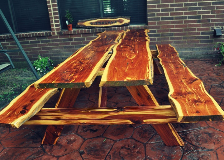 Texas Wood Creations creates picnic tables, benches, custom name signs ...