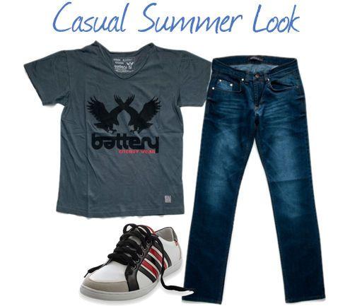#Casual #Summer #Denim #Look T-shirt: http://goo.gl/mt7OwP Jeans: http://goo.gl/sXvtUD Παπούτσια: http://goo.gl/drlJ3x