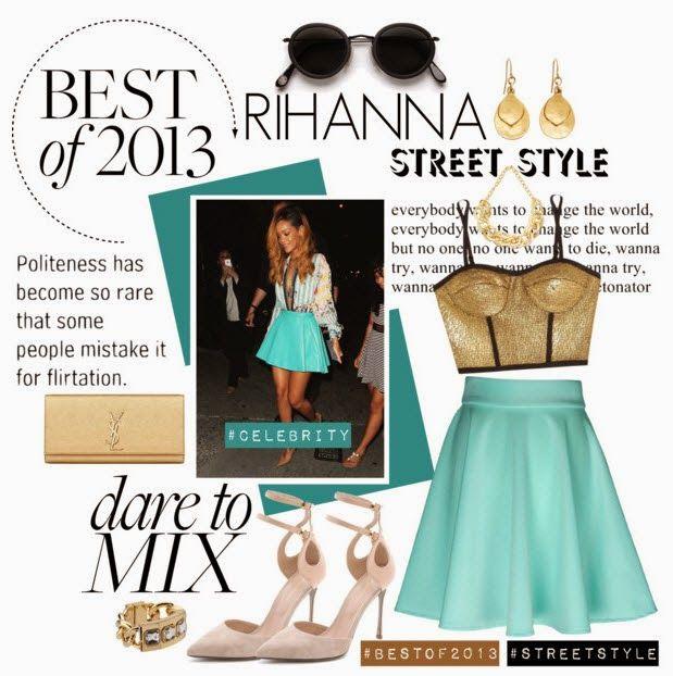 Fashion Take-Out: Celebrity Street Style of 2013:: RIHANNA Street Style