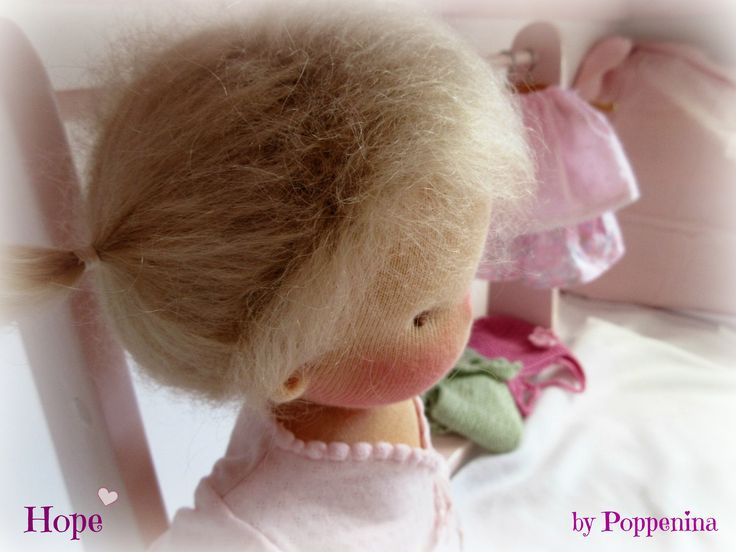 Hope, 16 inch little girl made by Poppenina