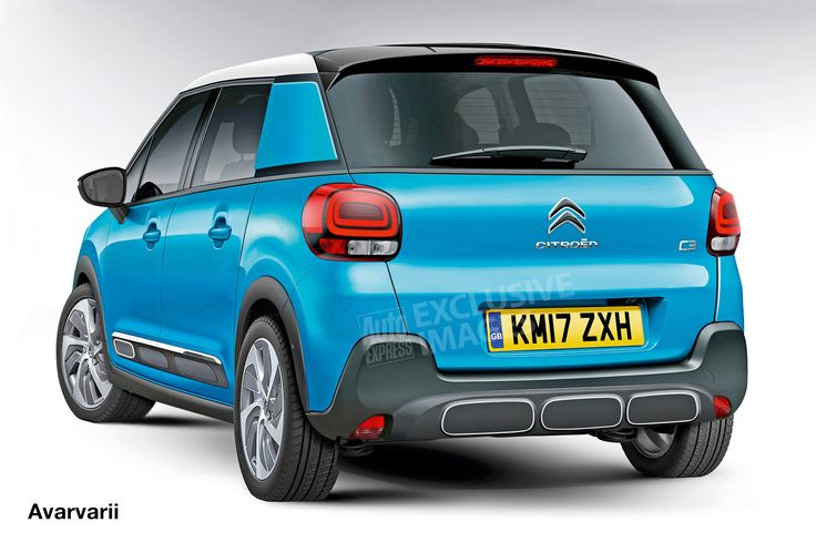 New 2017 Citroen C3 Picasso - pictures | Citroen C3 SUV - rear (watermarked) | Auto Express