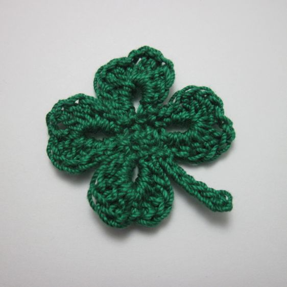Simple Four Leaf Clover Motif By Liliya - Free Crochet Pattern - (guidecentr)