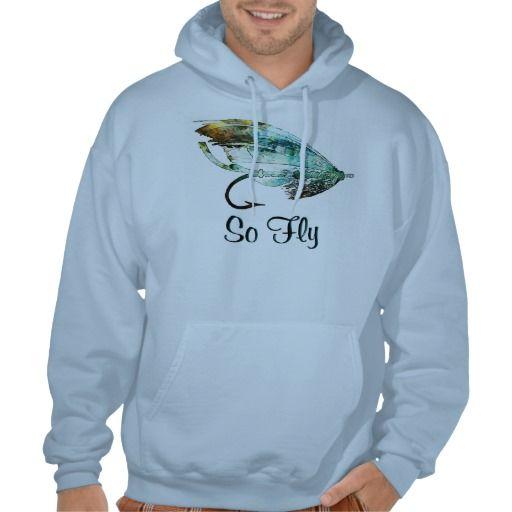 Watercolor fly fishing lure art hoodie watercolors fly for Fly fishing hoodie