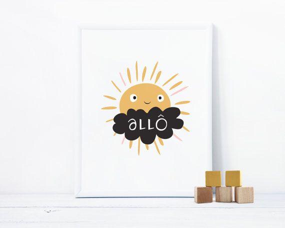 Des couleurs pastels composée de petits nuages et saupoudrés de délicieux motifs graphiques, cette affiche de Mag & Jack permet de mettre un peu de poésie dans votre quotidien et d'ajouter une touché ludique à vos murs.