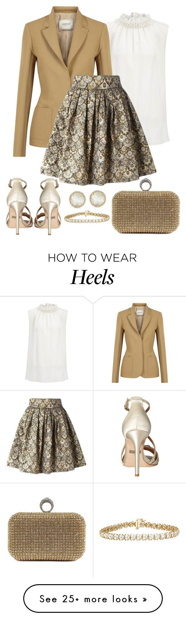 """Untitled #1313"" by gallant81 on Polyvore featuring Badgley Mischka, Joseph, Lanvin, Leo and Anne Sisteron"