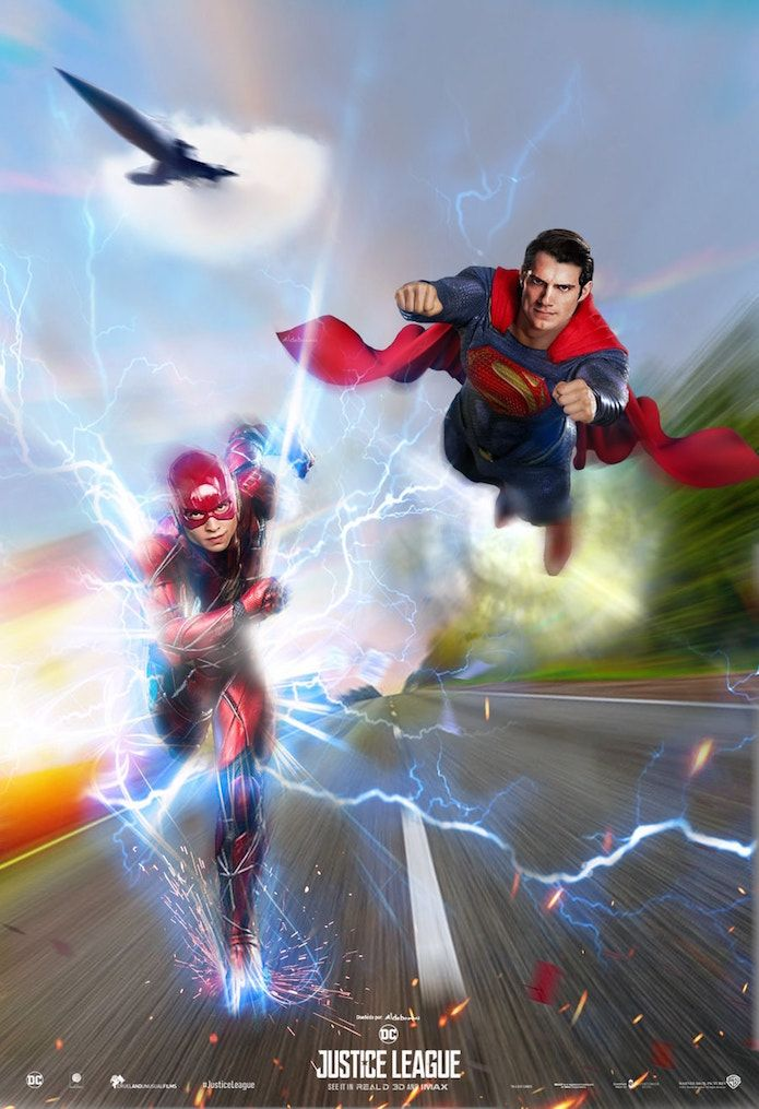 Justice League Movie Poster 2017 With Flash Racing Superman, See what else happened during the Justice League Post Credits scenes - DigitalEntertainmentReview.com