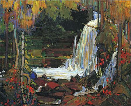 "Tom Thomson -  ""Woodland Waterfall"""