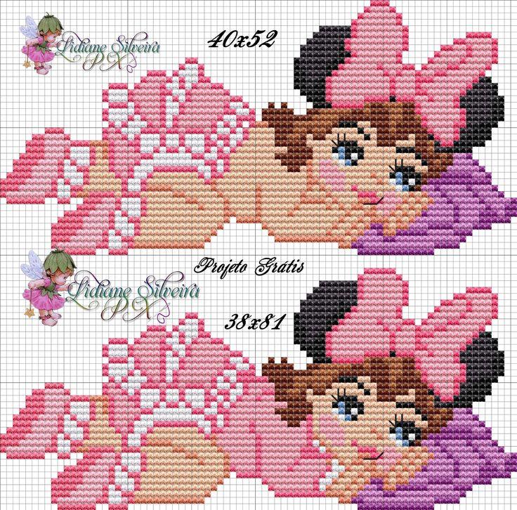 Bebês vestidos de Minnie!