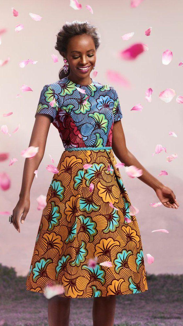 1001 exemples de couture africaine chic de nos jours for Couture de kita pagne