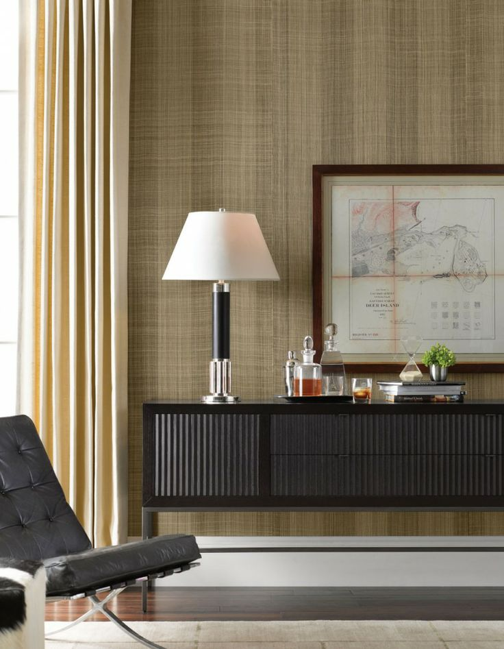 Americana Collection of Natural #Wallcoverings: WL303 Trinity from the District Series #interiordesign