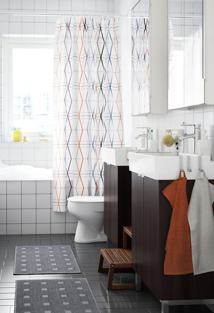 Make Your Bathroom Truly Unique Adding Colorful Towels Mats Curtains And Other Textiles