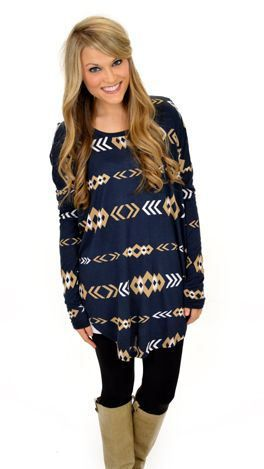Tunic with leggings - LOVE this style... Not this print though