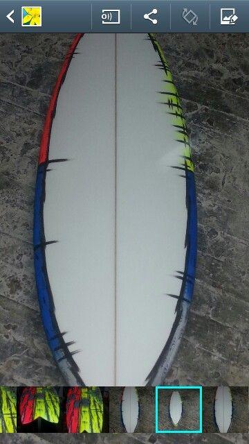 Surfboard art..willy nicholls..brush spray..2015..mt woodgee..