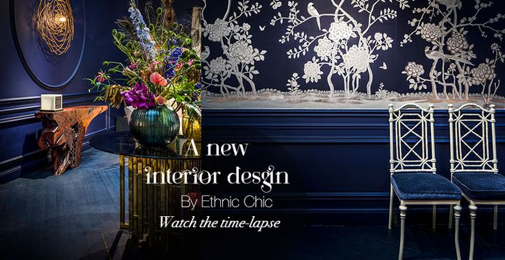 A time-lapse of a new interior design by ethnic chic