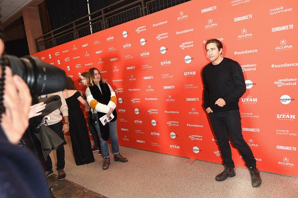 "Actor Jake Gyllenhaal attends the ""Wildlife"" Premiere during the 2018 Sundance Film Festival at Eccles Center Theatre on January 20, 2018 in Park City, Utah."