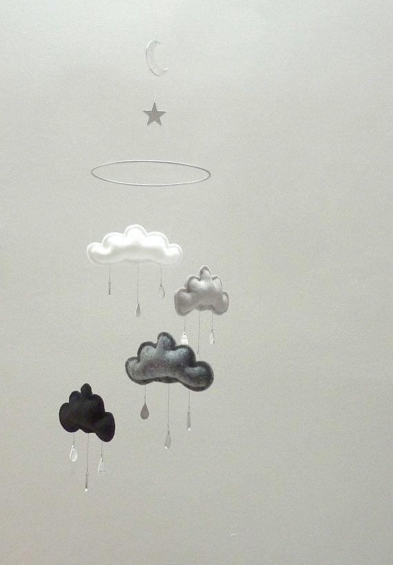 Sterne und Mond Kindergarten Wolke mobile SOKO von leptitpapillon