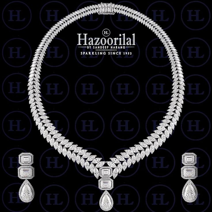 Celestial and stunning this piece of jewellery will make you look alluringly elegant. #HazoorilalBySandeepNarang #Diamonds #Solitaires #finejewelry #JewelryAddict #Hazoorilal