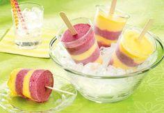 Frozen yogurt lollipops // Sucettes glacées au yogourt