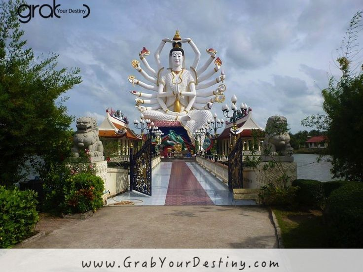 BIG Buddha, Temples in Koh Samui, Thailand #BigBuddha #GrabYourDestiny  #Monks #Travel #JasonAndMichelleRanaldi #Temples #KohSamui #Thailand  www.GrabYourDestiny.com